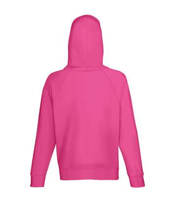 Fruit Of The Loom Mens Lightweight Hooded Sweatshirt / Hoodie (240 GSM) (Fuchsia) - UTBC2654