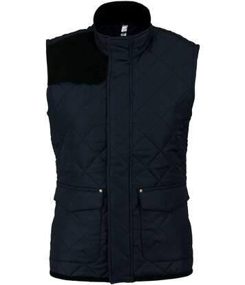 Bodywarmer veste sans manches matelassée - K6125 - bleu marine - femme