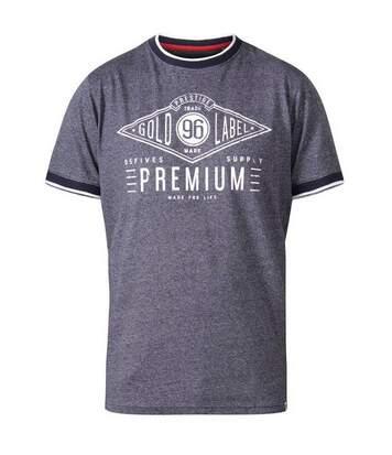 Duke - T-Shirt Manches Courtes Alister - Homme (Bleu marine) - UTDC284
