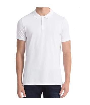 Paul Nos Homme Polo Blanc Calvin Klein Jeans