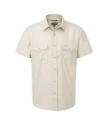 Craghoppers Outdoor Classic Mens Kiwi Short Sleeve Shirt (Oatmeal) - UTCG181