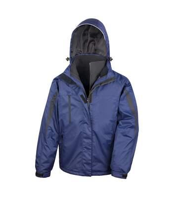 Result Mens 3 In 1 Softshell Waterproof Journey Jacket With Hood (Navy / Black) - UTRW3694