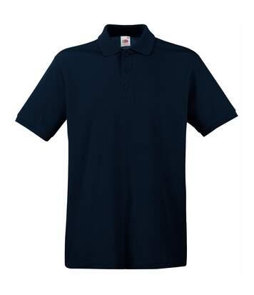 Fruit Of The Loom Premium Mens Short Sleeve Polo Shirt (Deep Navy) - UTBC1381