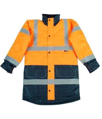 Warrior Mens Denver High Visibility Safety Jacket (Fluorescent Orange) - UTPC274