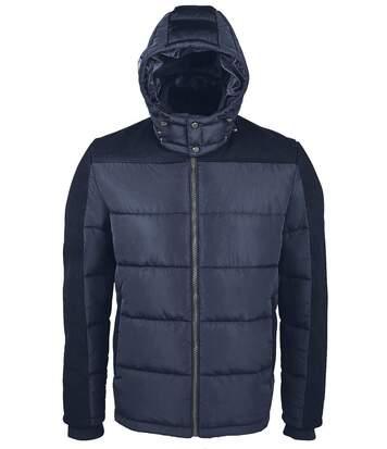 Doudoune chaude à capuche homme - 02886 - bleu marine