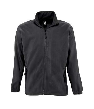 SOLS Mens North Full Zip Outdoor Fleece Jacket (Grey Marl) - UTPC343