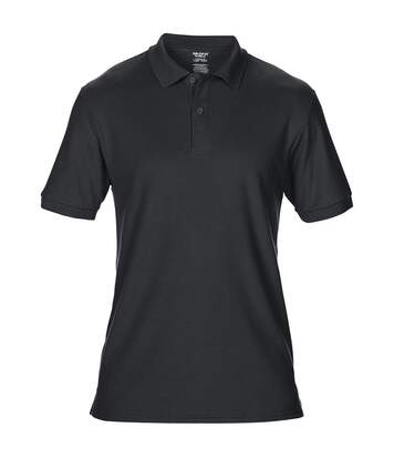 Gildan Mens DryBlend Adult Sport Double Pique Polo Shirt (Black) - UTBC3191