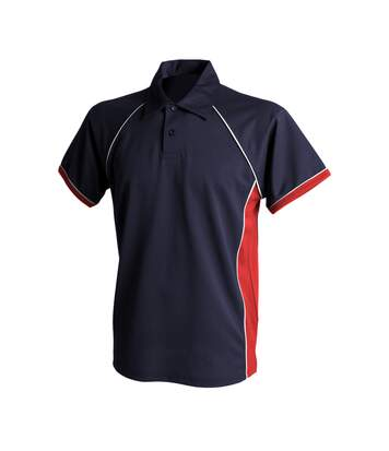 Finden & Hales Mens Piped Performance Sports Polo Shirt (Navy/Red/White) - UTRW427
