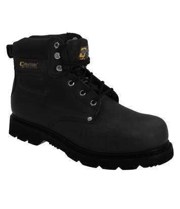 Grafters Mens Gladiator Safety Boots (Black) - UTDF669
