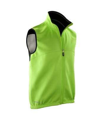Spiro Mens Airflow Sports Training Gilet / Bodywarmer (Neon Green/ Black) - UTRW2863