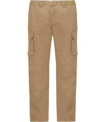 Pantalon multipoches pour homme - K744 - beige