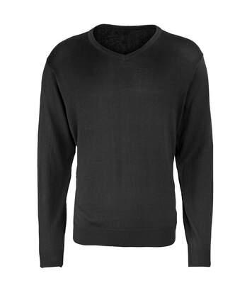 Premier Mens V-Neck Knitted Sweater (Navy) - UTRW1131