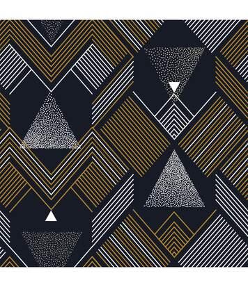 Atmosphera - Parure de lit 2 Personnes 240 x 220 cm Housse de couette avec 2 taies Imprimé Triangles Graphiques