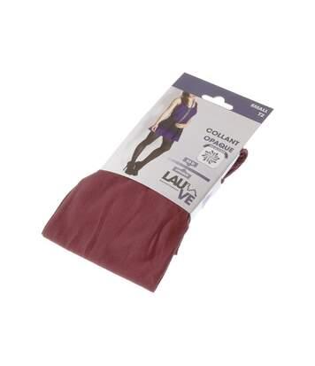 Collant chaud - 1 paire - Unis simple - Opaque - Mat - Gousset polyamide - Rouge - Intense opaque