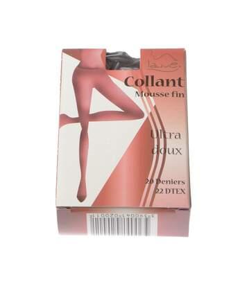 Collant fin - 1 paire - Unis simple - Transparent - Mat - Gousset polyamide - Noir