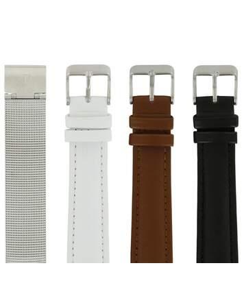 Lot de 4 bracelets acier milanais synthétique LOUISE PEARL