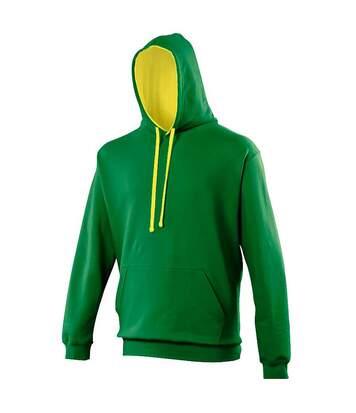 Awdis Varsity Hooded Sweatshirt / Hoodie (Charcoal/ Heather Grey) - UTRW165