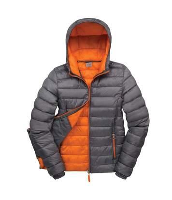 Result Urban Womens/Ladies Snowbird Hooded Jacket (Grey/Orange) - UTBC3254