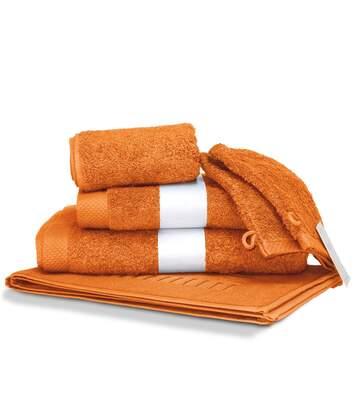 Parure de bain 6 pièces PURE Orange Butane 550 g/m2