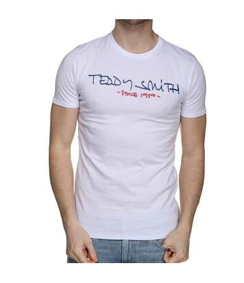 T-shirt blanc homme Teddy Smith Ticlass Basic