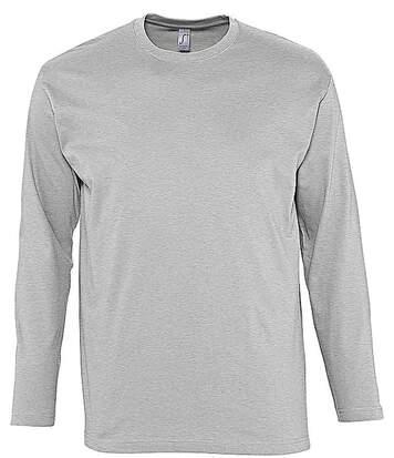 T-shirt manches longues HOMME - 11420 - gris chiné