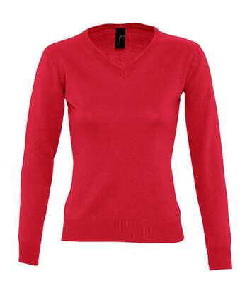 SOLS Womens/Ladies Galaxy V Neck Sweater (Red) - UTPC401