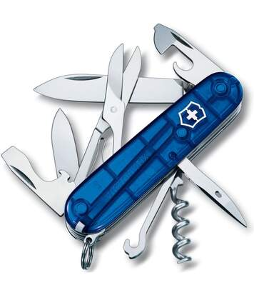 Couteau suisse Victorinox Climber bleu translucide
