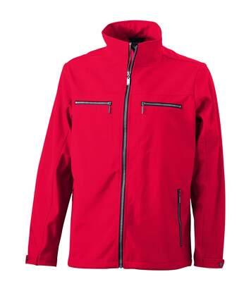 Veste moulante softshell HOMME JN1058 - rouge