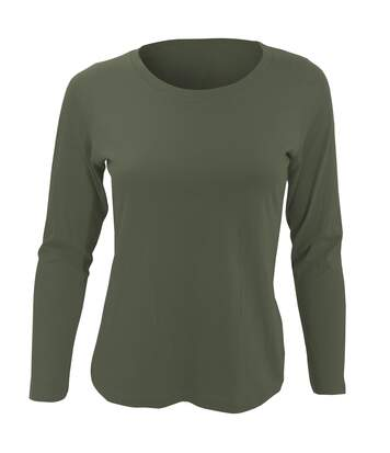 Sols Majestic - T-Shirt À Manches Longues - Femme (Kaki) - UTPC314