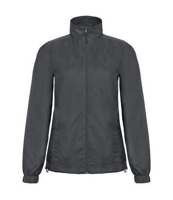 B&C Womens/Ladies ID.601 Hooded Showerproof Windbreaker Jacket (Black) - UTRW3523