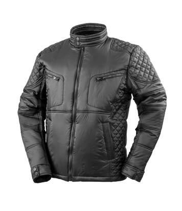 Result Urban Mens Padded Biker Jacket (Black) - UTPC3199