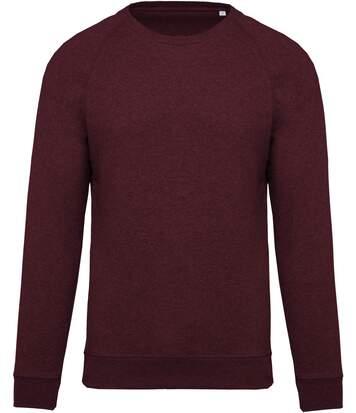 Sweat shirt coton bio - Homme - K480 - rouge vin chiné