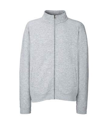 Fruit Of The Loom Mens Sweatshirt Jacket (Heather Grey) - UTBC1375