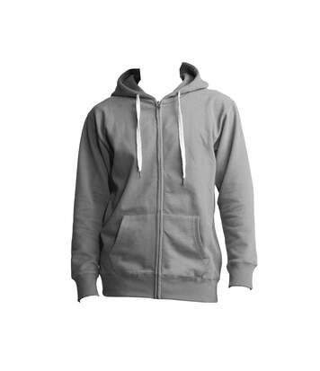Mantis Mens Superstar Zip Through Hooded Sweat / Hoodie (Heather Grey Melange) - UTBC2690