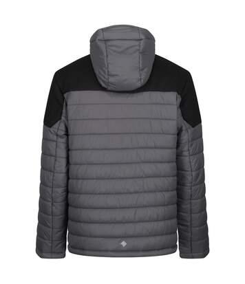 Regatta Mens Orton Hooded Baffle Jacket (Magnet Grey/Black) - UTRG4450