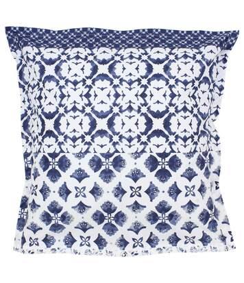 Parure de lit 200x200 cm 100% coton PADANG bleu 3 pièces