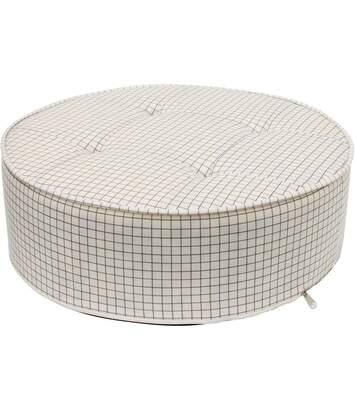 Coussin de sol rond à carreaux 50 cm