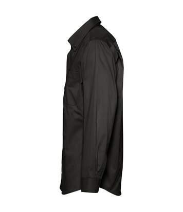 SOLS Mens Bel-Air Long Sleeve Twill Work Shirt (Black) - UTPC389