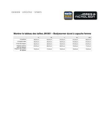 Bodywarmer duvet doudoune sans manches FEMME - JN1061 - jaune