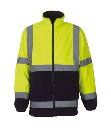 Yoko Mens Hi Vis Heavyweight Fleece Jacket (Pack of 2) (Yellow/ Navy) - UTRW6875