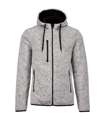 Proact Mens Heather Hooded Jacket (Light Grey Melange) - UTPC3539
