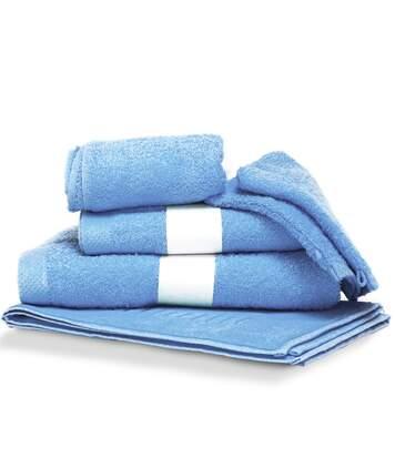 Parure de bain 6 pièces PURE Bleu Ciel 550 g/m2