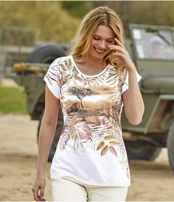 Women's White Savannah T-Shirt