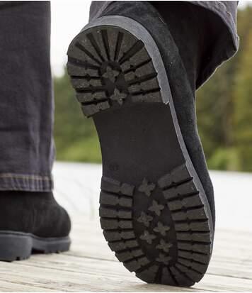 Wysokie buty ocieplane kożuszkiem sherpa Winter
