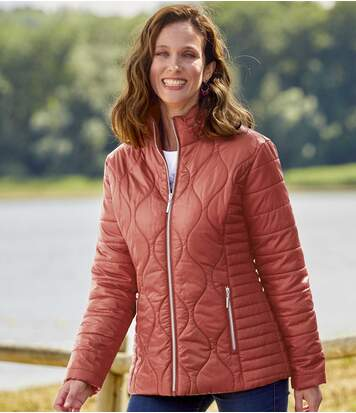 Women's Puffer Jacket - Terracotta