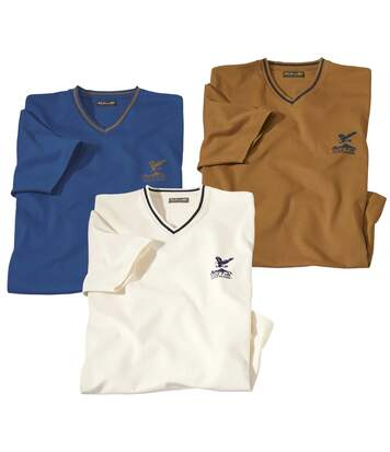Lot de 3 Tee-Shirts Col V Outdoor