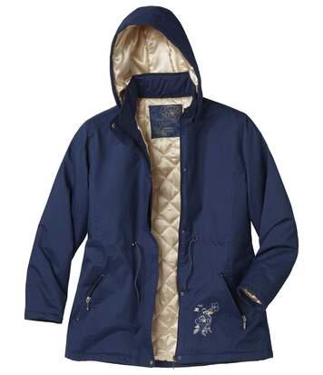 Women's Navy Blue Parka Coat