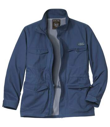 Men's Blue Twill Summer Safari Jacket
