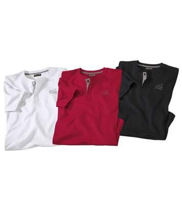 Set van 3 Caprera T-shirts met Tunesische hals