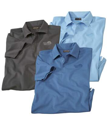 3er-Pack Poloshirts Beach Time